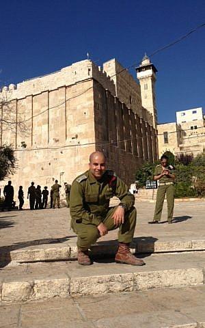 Maj. Arye Shalicar, at work (Photo credit: courtesy: Arye Shalicar)