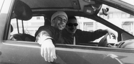 Shalicar alongside his Turkish friend Sahin (Photo credit: courtesy: Arye Shalicar)
