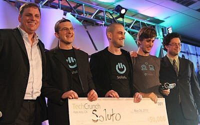 The Soluto team at the 2010 TechCrunch awards (Photo credit: Courtesy)