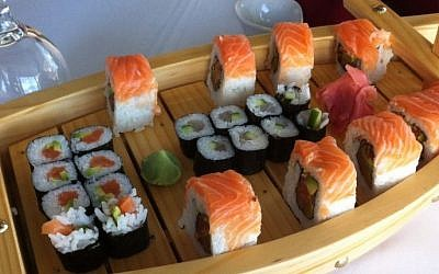 Sushi at Just Ceaser restaurant in Ramallah (photo credit: Courtesy)