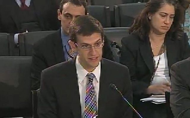 Director of Treasury Department's Office of Foreign Assets Control Adam Szubin. (screen capture: Youtube/HouseResourceOrg.)