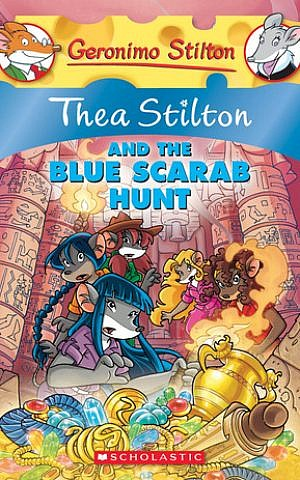 The cover of the 'Thea Stilton and the Blue Scarab Hunt'