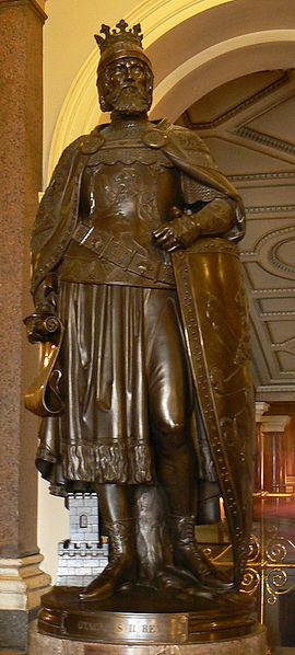 Statue of King Ottokar II of Bohemia in Prague. (photo credit: Acoma, Wikimedia Commons)