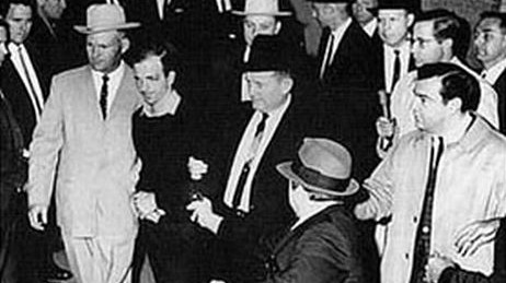 """Lee Harvey Oswald is shot by Jack Ruby (photo credit: Ira Jefferson """"Jack"""" Beers Jr. (1910-2009) for The Dallas Morning News / Wikipedia Commons)"""