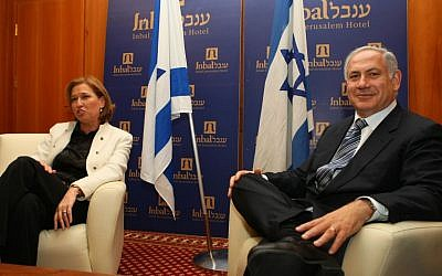 Kadima Chairwoman Tzipi Livni meets with rival Likud leader Benjamin Netanyahu in Jerusalem on Sunday Feb 22, 2009. for talks on forging the government coalition. (Photo credit: Kobi Gideon / FLASH90)