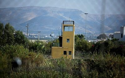 A watchtower in the northern Jordan Valley (photo credit: Moshe Shai/Flash90)