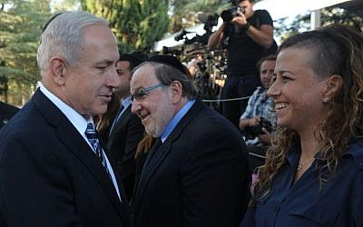 Noa Rothman meeting with Benjamin Netanyahu in 2012. (photo credit: Kobi Gideon/GPO/Flash90)