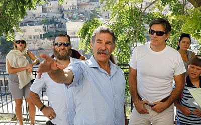 "Mehmet Cengiz Oz, also know as Dr. Oz, and Rabbi Shmuel ""Shmuley"" Boteach, being guided in the City of David in Jerusalem's Old City last summer (photo credit: Flash 90)"