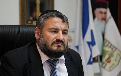 Beit Shemesh Mayor Moshe Abutbul (Flash90/File)