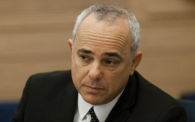 Yuval Steinitz attends a session of the Security and Foreign Affairs Committee in the Knesset, October 16, 2013 (photo credit: Flash90)