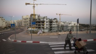 A housing construction site in an East Jerusalem neighborhood, October 27, 2013. (Yonatan Sindel/Flash90)