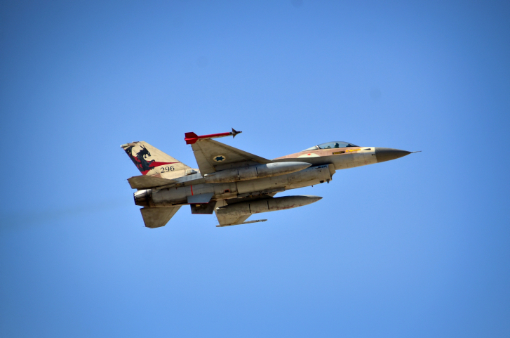 Illustrative An IAF F-16 from the Red Dragon squadron during a drill November 2013