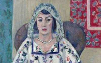 A detail from the painting  'Sitzende Frau' ('Sitting Woman' or 'Femme Assise'), by Henri Matisse, also part of Gurlitt's collection. (photo credit: AP/Staatsanwaltschaft Augsburg)