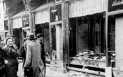 Kristallnacht destruction in Magdeburg, Germany, November 1938. (German Federal Archive/Wikipedia Commons)