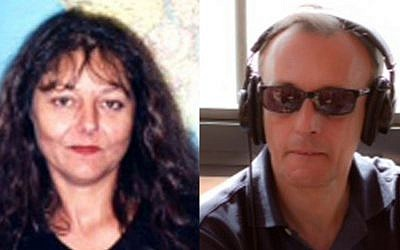 Journalists Ghislaine Dupont, left, and Claude Verlon, slain while on assignment in Mali, Saturday, November 2, 2013 (photo credit: AP/RFI)