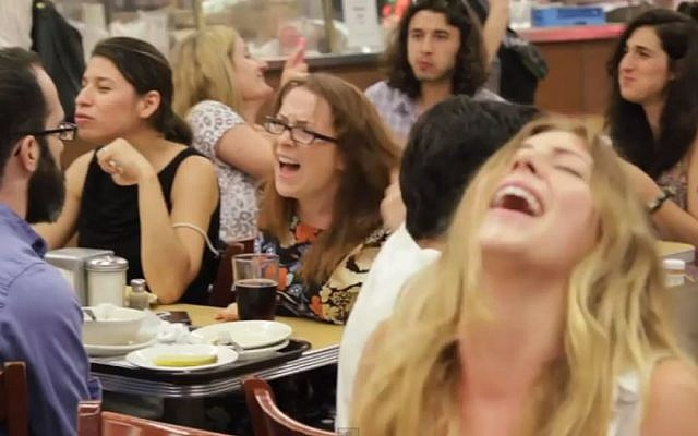 Multiple orgasms in Katz's Deli. (screenshot: YouTube)