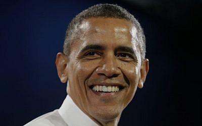 President Barack Obama, Monday, Nov. 25, 2013 (photo credit: AP/Pablo Martinez Monsivais)