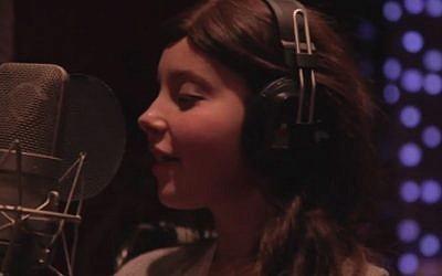Olivia Wise sings Katy Perry's 'Roar.' (photo credit: YouTube screenshot)