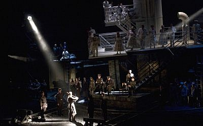 A scene from the production of Weinberg's 'The Passenger,' during the Bregenz Festival in Bregenz, Austria in 2010. (photo credit: AP Photo/Bregenz Festival , Karl Forster)