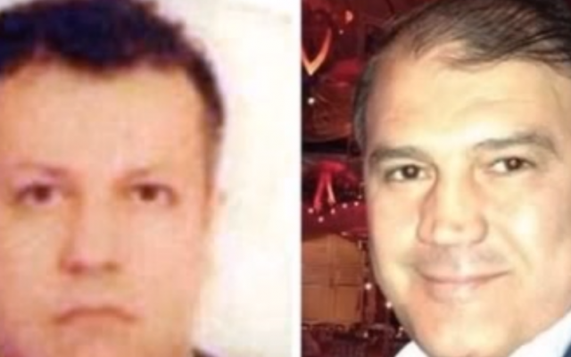 Kidnapped Turkish Airlines pilots Murat Akpinar, right, and Murat Agca (photo credit: YouTube screen capture)