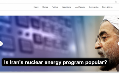 Front page of the newly launched Iranian website nuclearenergy.ir. (screen capture: nuclearenergy.ir)