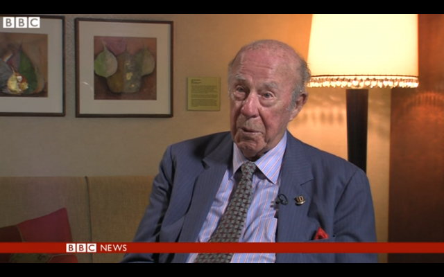 Former US secretary of state George Shultz (screen capture: BBC News)