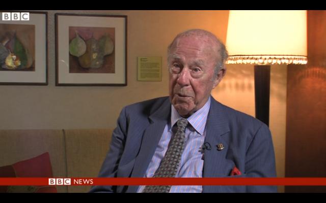 Former US secretary of state George Shultz (screen capture: BBC News)