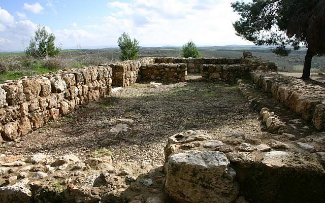 The ancient synagogue at Angels' Forest (photo credit: Shmuel Bar-Am)