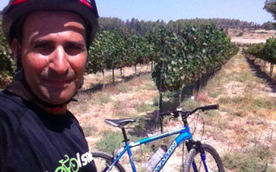Ofer Zemach left graphic design to pursue his dream, guiding with a specialty in biking and winery tours (Courtesy Ofer Zemach)
