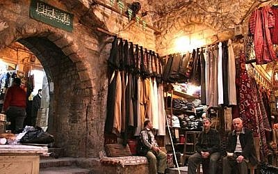 The ancient souk in Aleppo. (photo credit: Wikimedia)