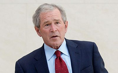 Former US president George W. Bush (Kevork Djansezian/Getty Images/JTA)