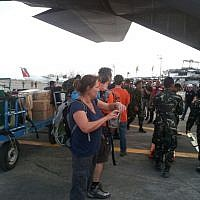 IsraAID members arrive in the Philippines. (Photo credit: IsraAID/Nufar Tagar)