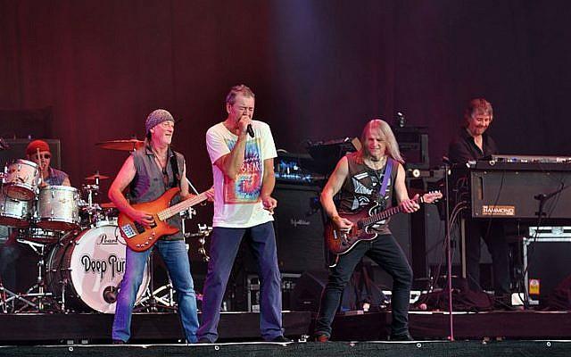Deep Purple in concert in Germany in 2013 (photo credit: Jonas Rogowski/Wikipedia)
