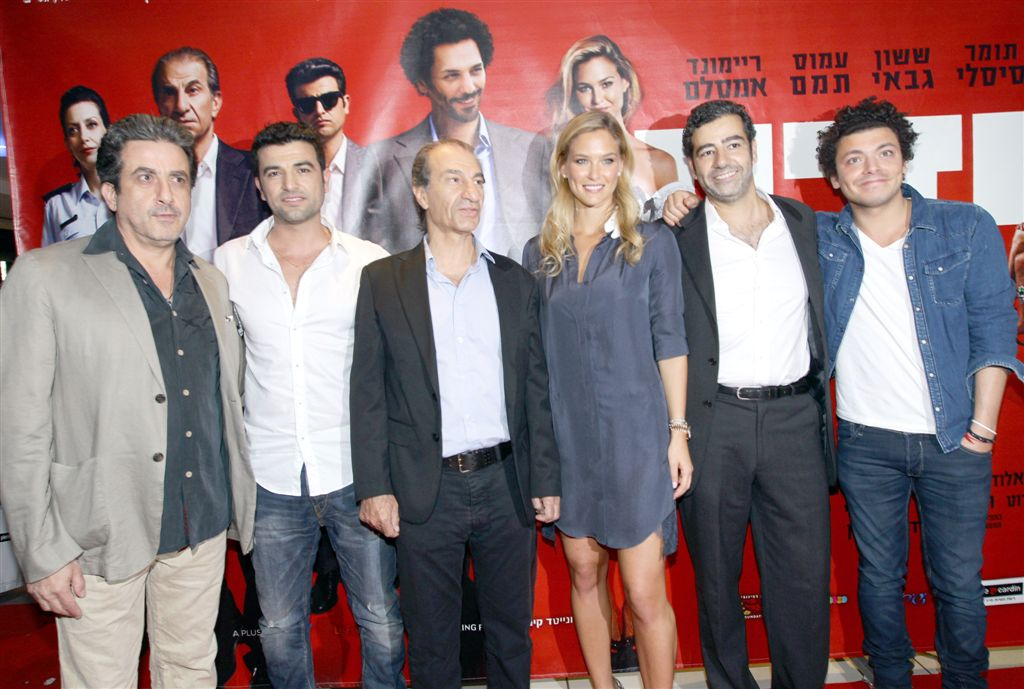 """The cast from """"Kidon"""" at its late October premiere (photo credit: Rafi Delouya)"""