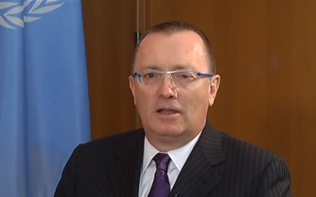 Under-Secretary-General for Political Affairs Jeffery Feltman (screencapture: Youtube/Hassan Abuzaitoun)