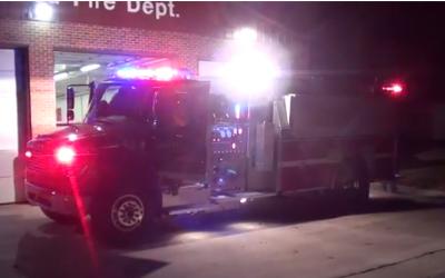 Fire truck responding to a call (illustrative screenshot: Youtube)