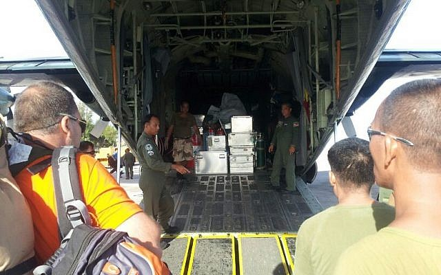 IsraAID arrives in Philippines with humanitarian aid. (Photo credit: IsraAID/Nufar Tagar)