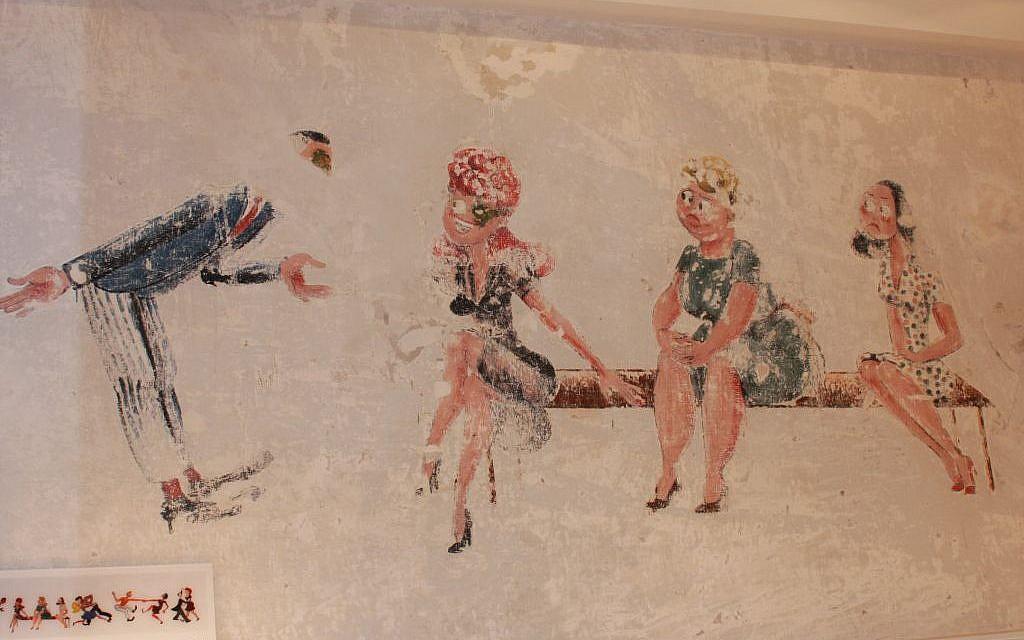 Gerd Rothschild mural at HaTahana (photo credit: Shmuel Bar-Am)