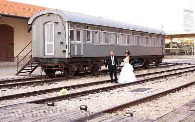 Wedding photo shoot at HaTahana  (photo credit: Shmuel Bar-Am)