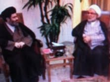 Iranian cultural attache in Lebanon in a meeting earlier this month with Sheikh Hashem Safi al-Din, the head of Hezbollah's Executive Council (Photo credit: courtesy: Ronen Solomon)