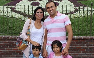 Saeed Abedini with his family before his arrest (photo credit: courtesy American Center for Law and Justice)