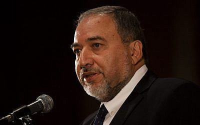 MK Avigdor Liberman, in Jerusalem, October 21, 2013. (photo credit: Flash90)