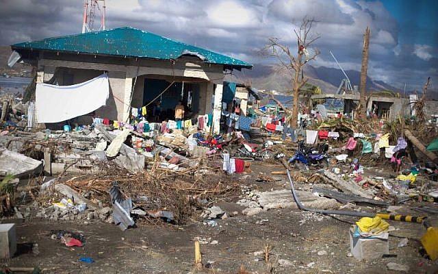 Image taken by IsraAID member shows devastation in the Philippines. (Photo credit: IsraAID/Nufar Tagar)