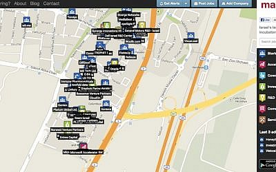 Mapped in Israel screenshot (Photo credit: Courtesy)