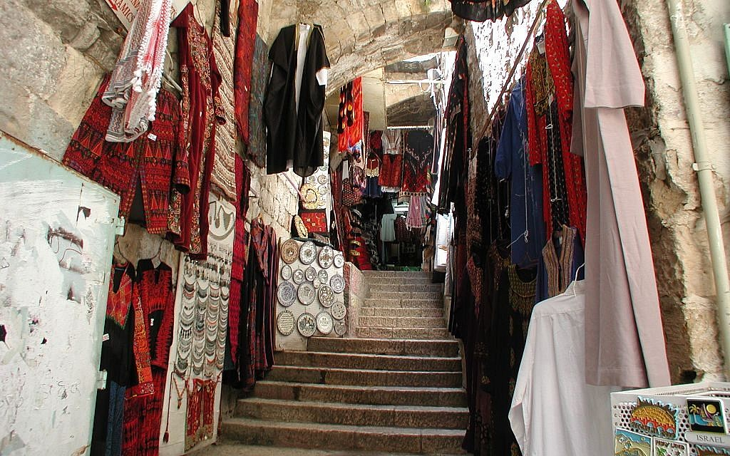Market in the Old City, leading down from Maronite Convent Road (photo credit: Shmuel Bar-Am)