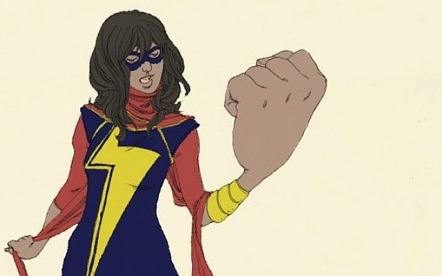 Kamala Khan, the newest superhero in Marvel's fleet, is a Muslim teenager. (Marvel.com/artist Adrian Alphona)