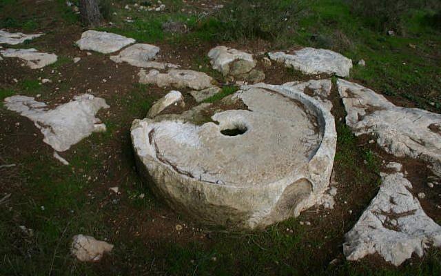 The olive press (photo credit: Shmuel Bar-Am)
