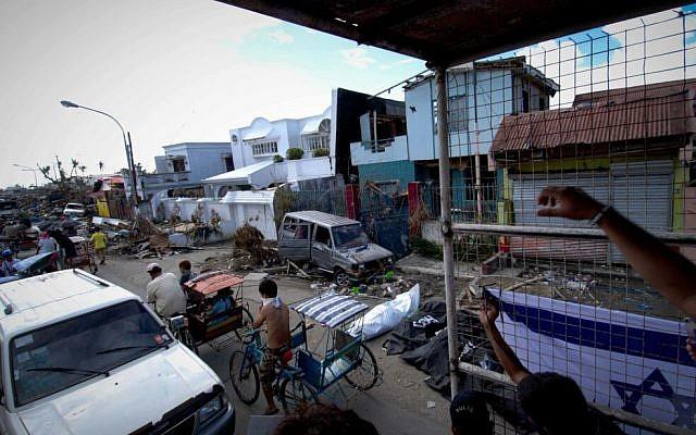 Image taken by IsraAID member showing devastation in the Philippines. (Photo credit: IsraAID/Nufar Tagar)