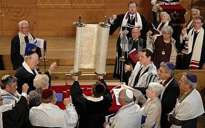 A service at the Abraham Geiger College in Potsdam near Berlin (photo credit: Margrit Schmidt)