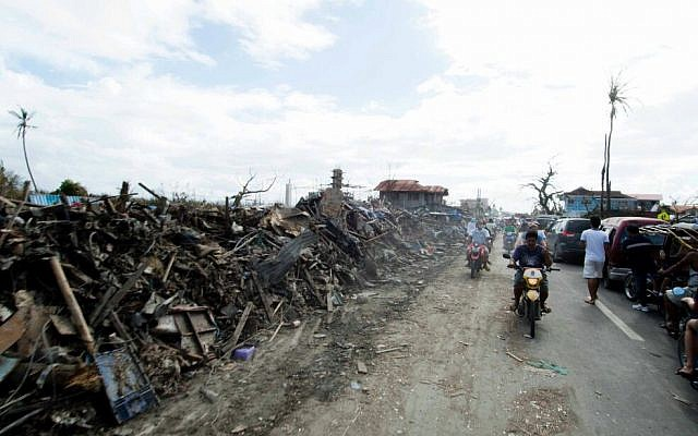 Image taken by IsraAID member shows devastation in the Philippines. (Photo credit: IsraAID/Nufar Tagar)
